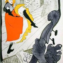 """Lautrec Henri de Toulouse, """"Jane April"""""""