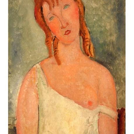 Modigliani_08_Jeune_fille_assise_en_chemise_1918