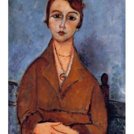 """Modigliani Amedeo, """"Portrait of Anna 1916"""""""