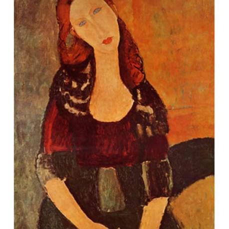 Modigliani_13_Portrait_of_Jeanne_Hebuterne