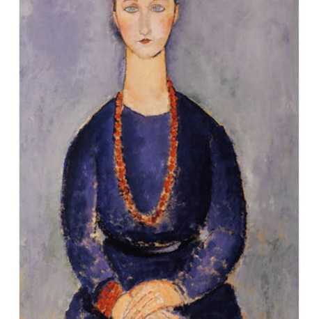 Modigliani_25_Woman_with_red_necklace_1916