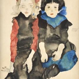 """Schiele Egon, """"Two little girls 1911"""""""