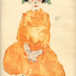 "Schiele Egon, ""Girl in yellow dress 1911"""