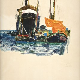 "Schiele Egon, ""Boats at Trieste"""