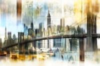 New York Skyline Abstrakt Fraktal as a acryl print 10552...