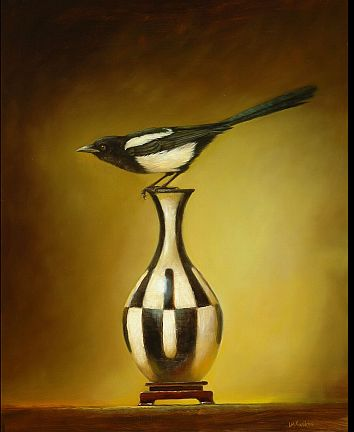 On Edge - Magpie 30x24 2