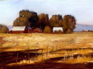 red barn painting in Idaho