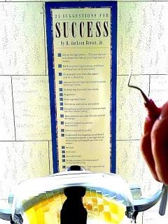 dentist chair success poster
