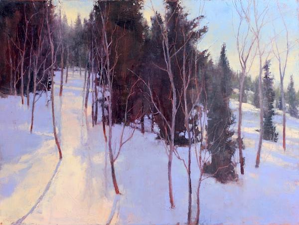 """©2013 LMcNee """"Winter Solstice"""" 30x40 oil/canvas"""