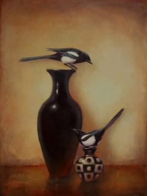 """Yin Yang"" @LoriMcNee 48x36 oil/canvas"