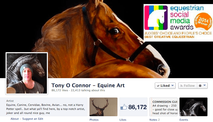 How This Artist Earned Nearly 100,000 Facebook Page Fans