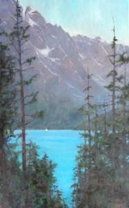 Into Summer - Redfish Lake 48x30 ©2015 LMcNee