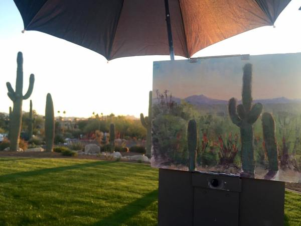 Painting on location in Tucson by Lori McNee