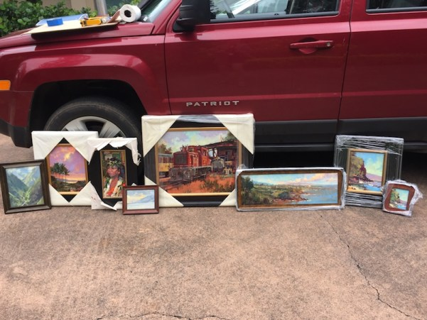 Packing and Shipping Frames for Plein Air Events and Travel
