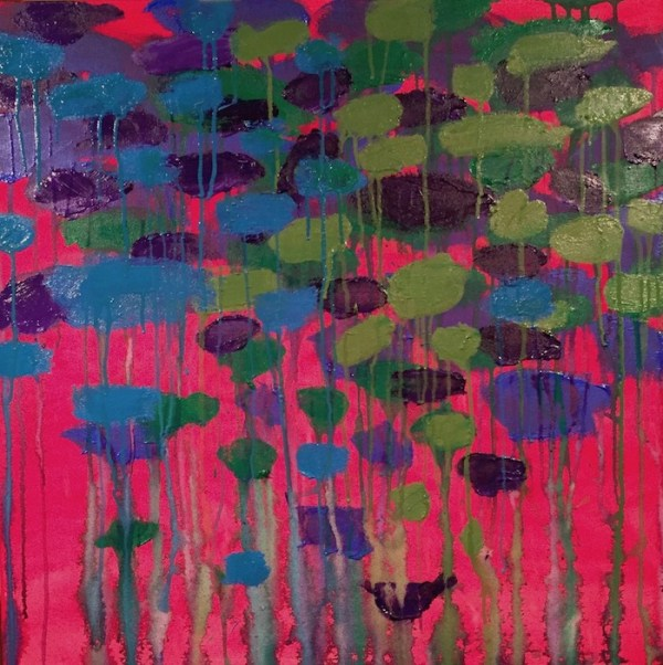 A Colorful Abstract Approach in Acrylic Painting Inspired by Monet
