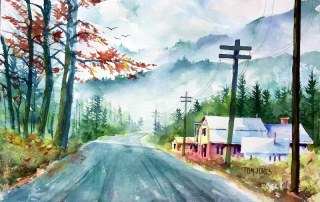 How to Create a Misty Atmospheric Watercolor Painting