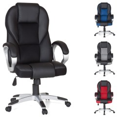 Revolving Chair Assembly Desk Arm Covers Finebuy Office Sport Gaming Executive Racer