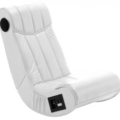 V Rocker Se Gaming Chair All Weather Garden Folding Sound Music White 2 1