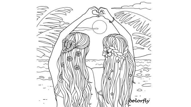 18 Best Free Printable BFF Coloring Pages for Kids and Adults