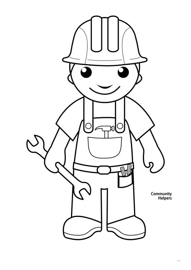 14 Best Free Printable Community Helpers Coloring Pages