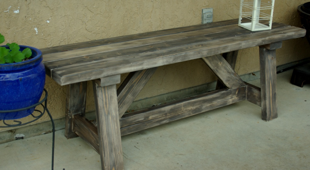 Rustic Wooden Stone Garden Benches