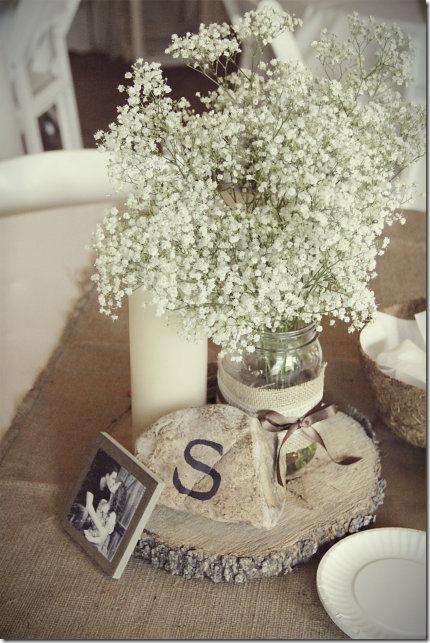 Shabby Chic Burlap Lace Valentine Decorations or Wedding Ideas