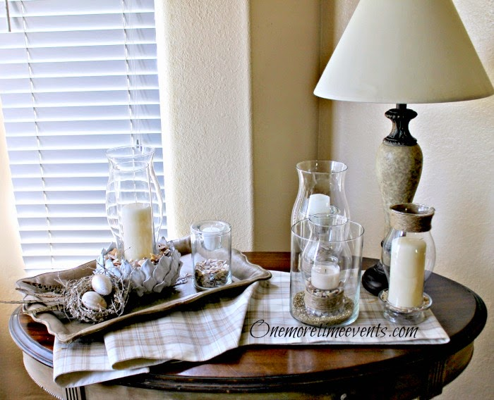 How To Natural Spring Vignette With Glass