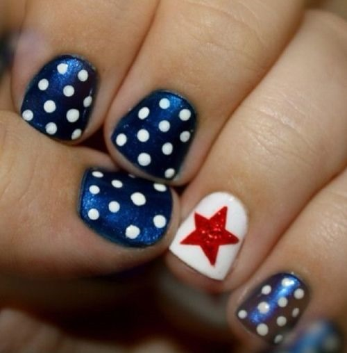 The Fourth Of July Nail Art Design