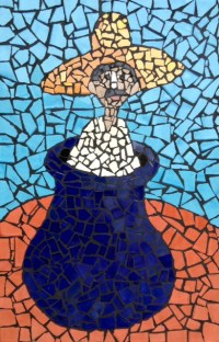 Pot Mexican Tile Mosaic by Steve Rand, Mexican Home Decor ...