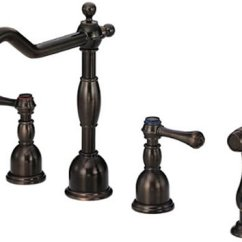 Oil Bronze Kitchen Faucet Modern Lighting Ideas Widespread Rubbed Two Handle Sink