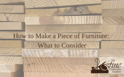 How to make a piece of furniture for beginners