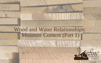 Wood and Water Relationships: Moisture Content (Part 1)
