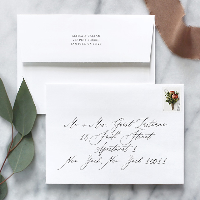 Address Wedding Invitation Envelopes