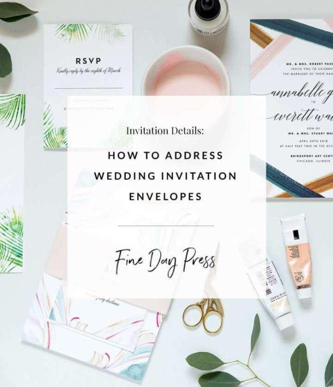 Address Wedding Invitation Envelopes