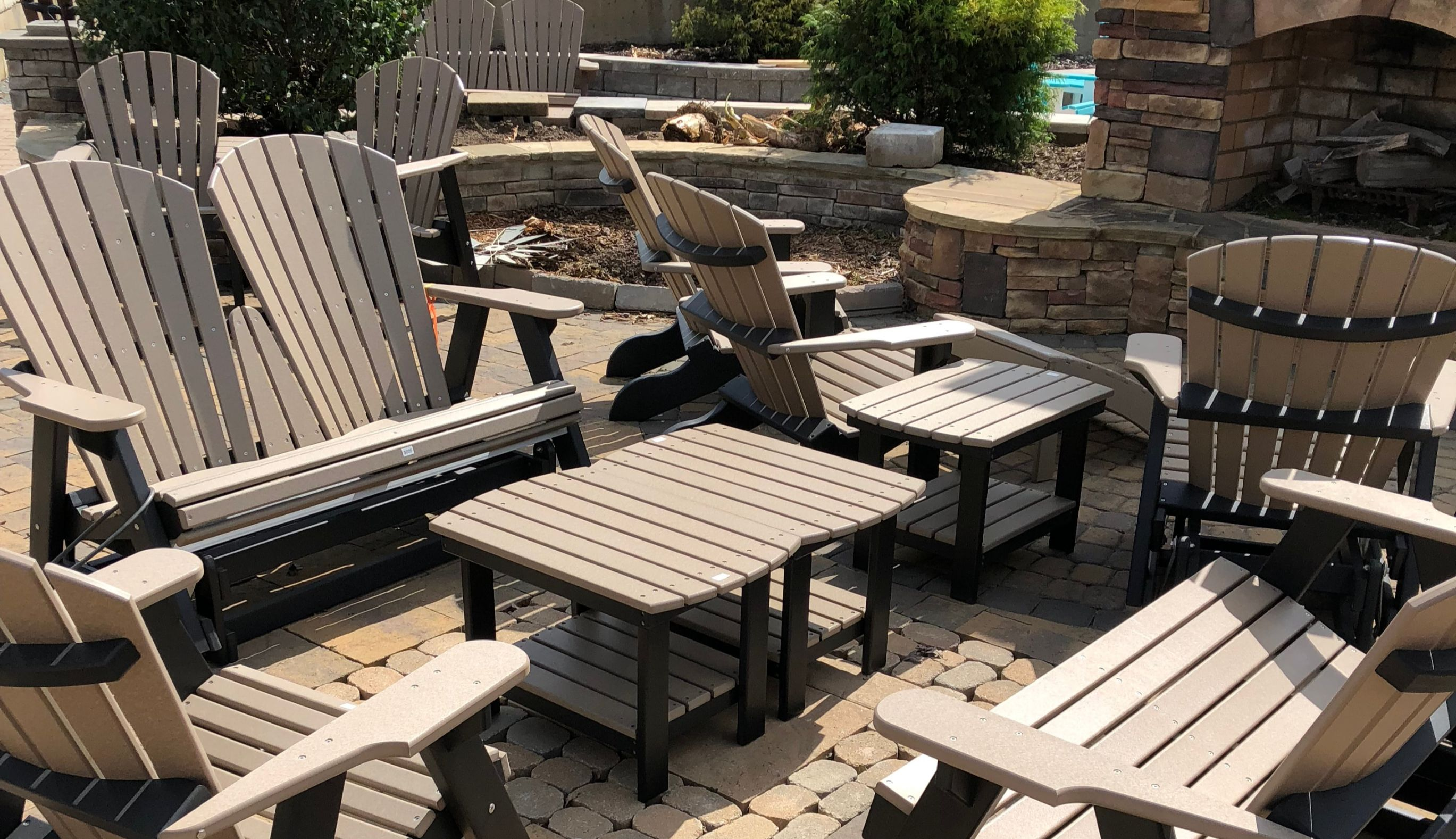 outdoor furniture made from recycled