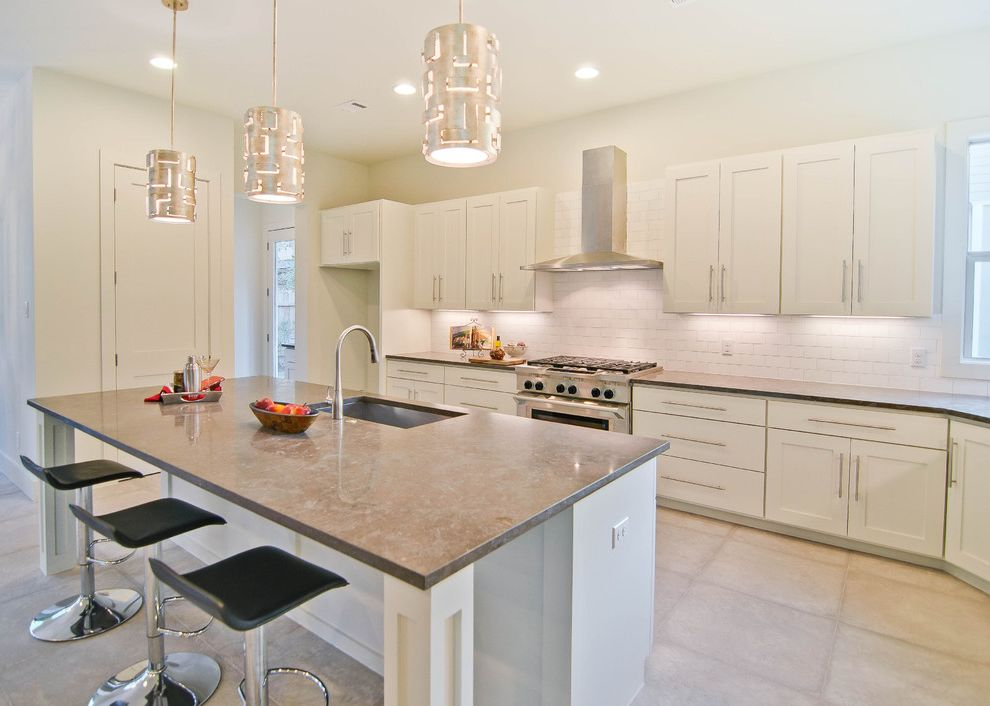 cherry wood kitchen island how to clean tiles walls 36 range hood insert transitional and backsplash ...