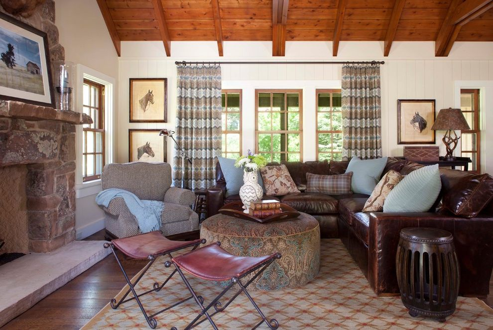 leather sectional sofa sacramento office chair ashley furniture with rustic living room and ...