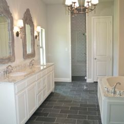 White Tufted Chair Feeder Accessories Bannister Custom Homes With Bathroom Also Bevel Subway Tile In Shower ...