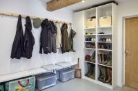 Boot Ranch Golf Contemporary Laundry Room Also Boot Rack ...
