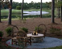 Build a Propane Fire Pit with Rustic Patio and Golf Course ...