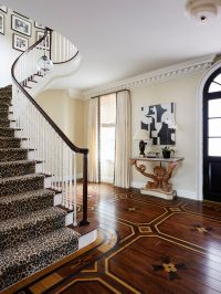 Deans Carpet with Traditional Staircase and Beige Drapes ...