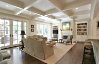 Epoxy Floors in Homes with Traditional Living Room and ...
