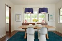 Extra Large Drum Lamp Shade Contemporary Dining Room and ...