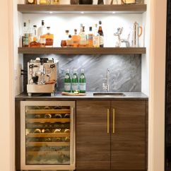 Kitchen Countertop Shelf Pewter Faucet Home Bar Ice Maker With Traditional And ...