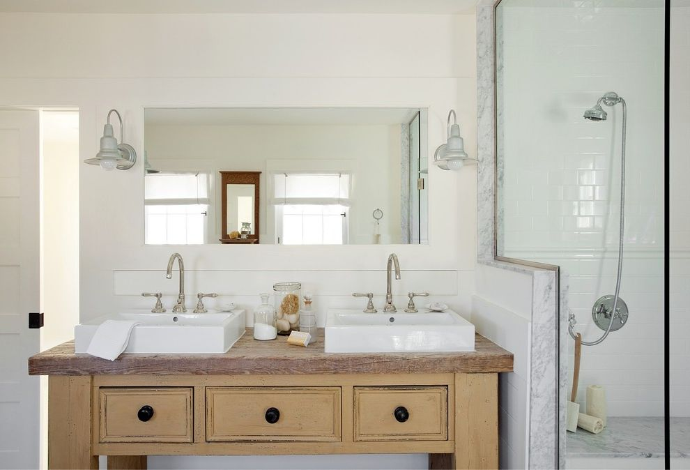Home Depot Bathroom Vanity Sink Combo With Beach Style Bathroom And Bathroom Beach Style Bathroom Double Sink Furniture Like Cabinets His And Hers Mirror Finefurnished Com