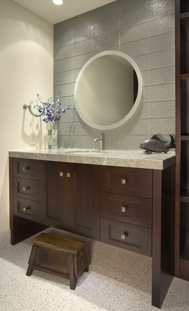 kitchen backsplash tile islands portable leather vanity stool with contemporary bathroom also ...