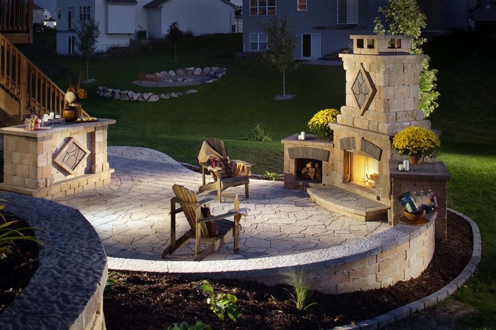 Mad Hatter Fireplace with Contemporary Living Room Also