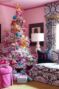 Natural Looking Christmas Trees with Eclectic Living Room ...