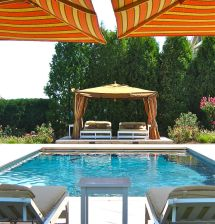 Outdoor Cabana Bed Tropical Pool And Bale Gazebo Bali
