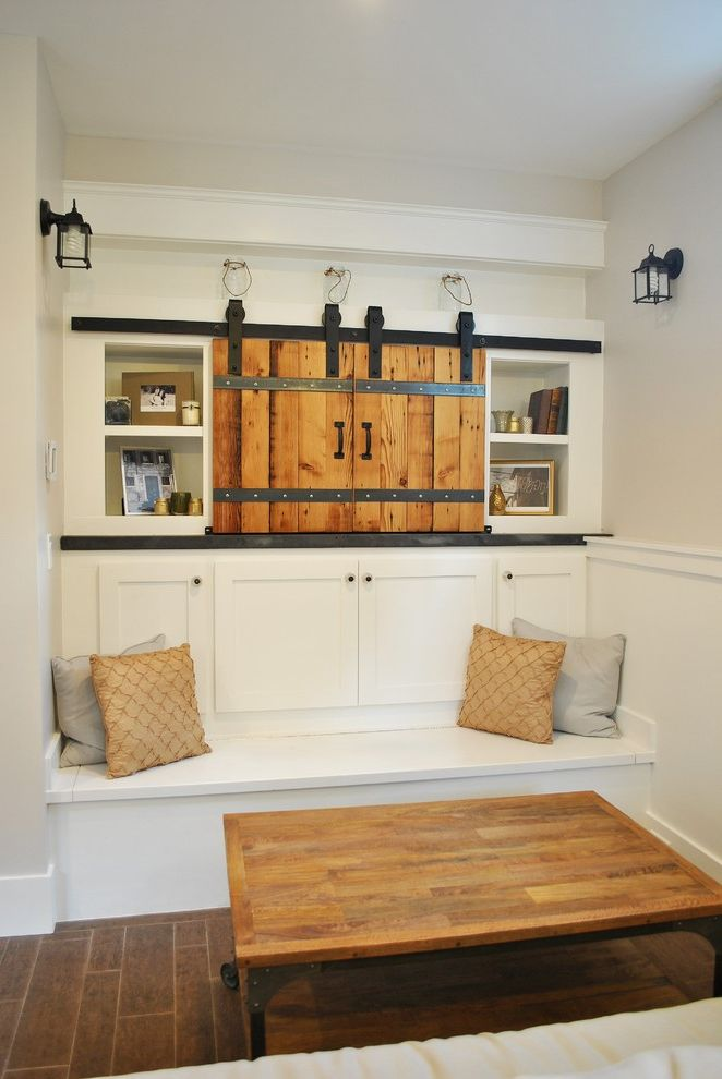 Outdoor Tv Cabinet Plans with Traditional Family Room and Banquette Built in Bench Built in